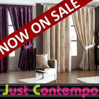 Royal Blue Pencil Pleat Curtains Purple and Cream Faux Silk Curtains