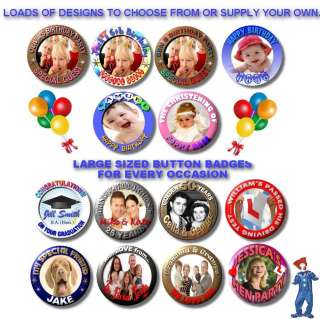 PERSONALISED BUTTON BADGES items in DESIGNER PIN BACK BUTTON BADGES