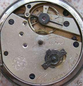 Courvoisier Freres pocket movement & dial key wind