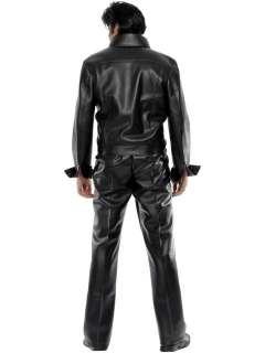 Costume Carnevale Elvis Presley 68 Pelle Tg.M # 8891 Travestimento
