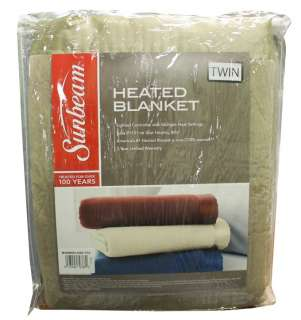 NEW Sunbeam Electric Home Heated Warming Blanket   Twin