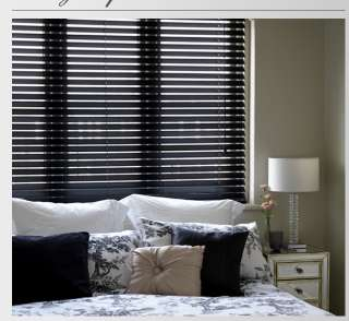 Black Wood Venetian Blind With 50mm Slats   Made To Measure Blind