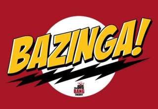 Big Bang Theory Hoodie   Bazinga   Officially Licenced   High Quality