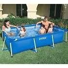 Intex 2.6m x 1.6m Rectangular Metal Frame Swimming Pool items in Stack
