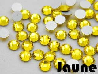 Verre Strass Cristal à Coller 10 couleurs au choix 2mm SS6 Ongles Lot