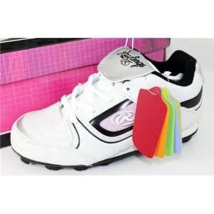 Rawlings Youth Baseball Cleats, White with Team Color