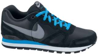 Nike Air Waffle Trainer Leather Schuhe Schwarz Blau NEU