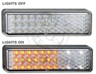 LED Bullbar Indicator and Parker Light Clear Lens PAIR Suit ARB and