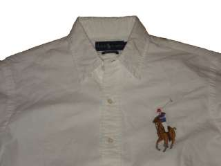 Polo Ralph Lauren White Oxford Big Pony Dress Shirt L