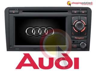 AUTORADIO NAVIGATORE GPS AUDI A3 GPS HD 6,5 DVBT SD USB