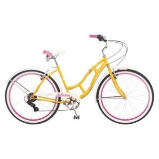 Schwinn Womens Majestic 26 Cruiser Bike Pink/Yellow Opens in a new