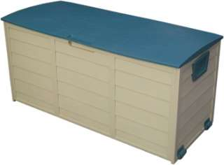 outdoor plastic storage box container with lift up lid