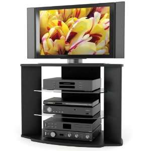 Sonax RX 3500 Rio 35 Inch Midnight Black TV Stand with Two