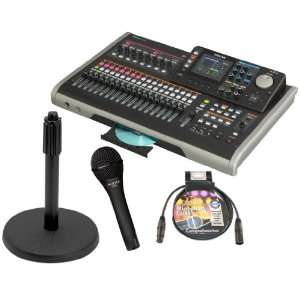 TASCAM DP 24 24 track Digital Portastudio Bundle Includes