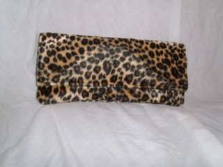 NEW ANIMAL LEOPARD CHEETAH PRINT CLUTCH BAG HAND