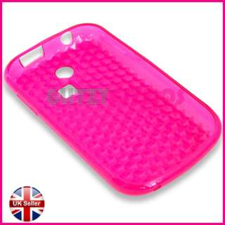 PINK SILICONE GEL CASE COVER FOR SAMSUNG CHAT 335 S3350