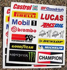Motorbike Fairing Belly Pan Sponsor Decal Stickers set
