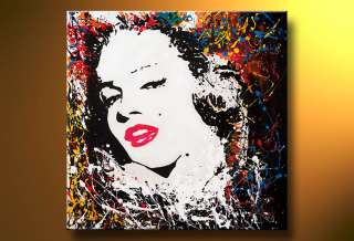 Modern art Marilyn Monroe oil painting +framed
