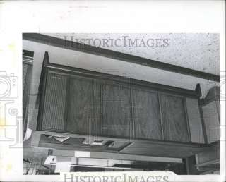 1965 Press Photo Stereo Console Record Player Radio