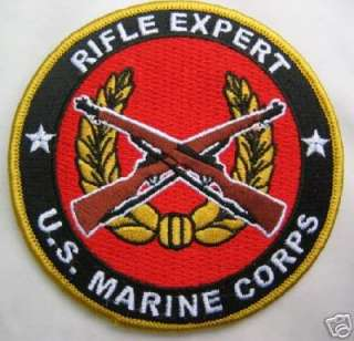 USMC US MARINE CORPS PISTOL EXPERT PATCH MEDAL BADGE