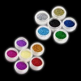 purpurina polvo brillante 12 colores para decorar unas cuerpo cara