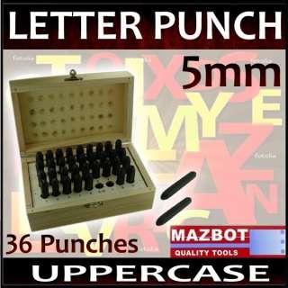 Number Engraver Steel Metal Die Stamp Punch Tool Set LP2345W5