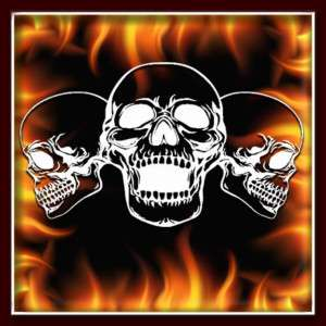 Skull 154 airbrush stencil template harley paint