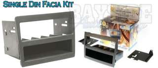 VY/VZ Commodore facia dash kit single DIN pocket kit   Grey