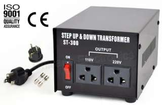 300 Watt Voltage Converter Transformer Step Up Down