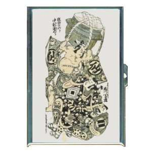 YOUNG HERO KABUKI JAPANESE WOODBLOCK ID Holder, Cigarette