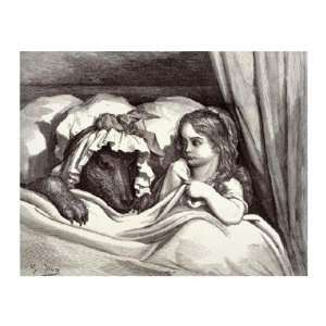 Little Red Riding Hood by Gustave Dore . Art PRINT Poster 34.00 X 27