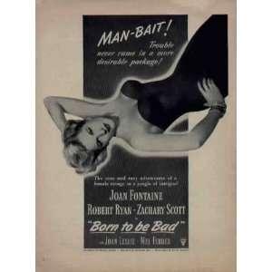 , starring Joan Fontaine, Robert Ryan, and Zachary Scott, with Joan