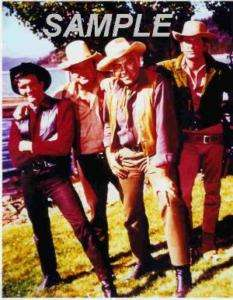 BONANZA CAST PHOTO LORNE GREEN MICHAEL LANDON CANDY