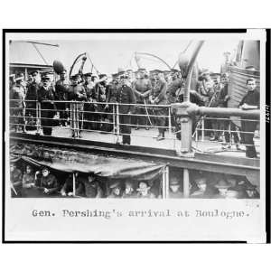General John J Pershings arrival,troop movements,military,Boulogne