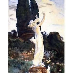 Statue of Daphne: John Singer Sargent Hand Painted Art: Home & Kitchen