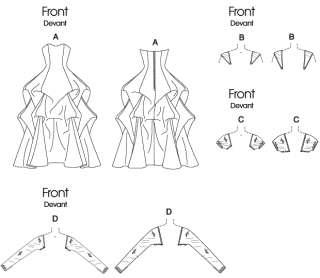 B 5184 Patron couture Robe de mariée T44 50