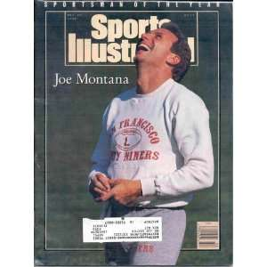 SPORTS ILLUSTRATED JOE MONTANA SAN FRANCISCO FORTY NINERS DECEMBER
