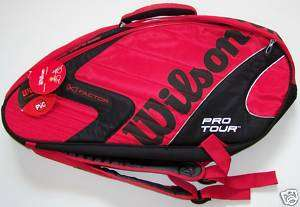 Sac tennis WILSON [K] FACTOR PRO TOUR SIX rouge/noir