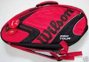 Sac tennis WILSON [K] FACTOR PRO TOUR SIX rouge/noir