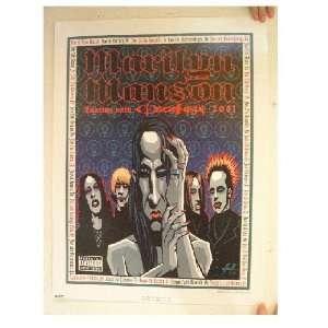 Marilyn Manson Poster Cartoon Tour Justin Hampton