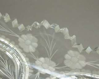 Vintage American Brilliant Period APB Cut Etched Glass Celery Tray