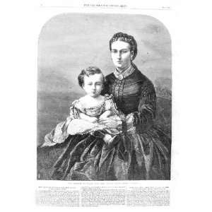 1866 Portrait Princess Wales Baby Prince Albert Victor Home & Kitchen