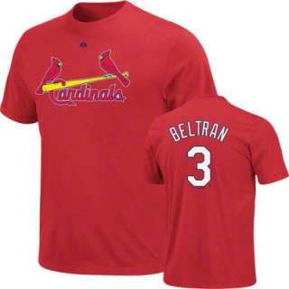 Carlos Beltran Majestic Name and Number St. Louis Cardinals T Shirt