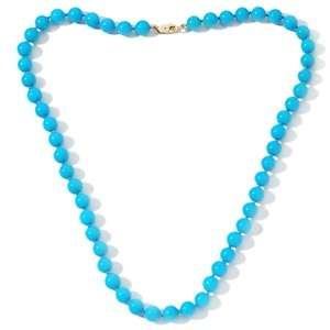 Gems Sleeping Beauty Turquoise Bead 14K 18 Necklace