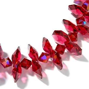Suzanne Somers Rock Candy Red Crystal 17 Necklace