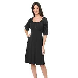 Scene by Donna Ricco 3/4 Sleeve Shirred Dress