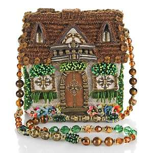 Mary Frances Home Sweet Home Beaded Handbag at HSN