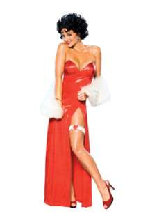 Betty Boop Deluxe Starlet Long Red Dress Womens TV & Movie Costume at