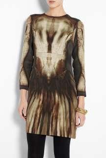 McQ Alexander McQueen  Phantom Print Silk Shift Dress by McQ