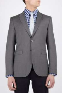 Smith  Mid Grey Light Suiting Wool Fitted Blazer by PS Paul Smith